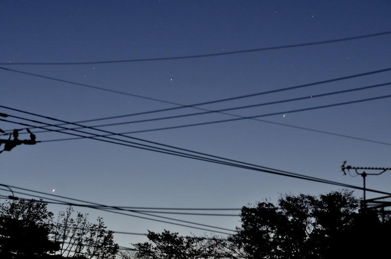 11/22のアイソン彗星