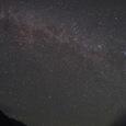穂高連峰と秋の星空