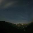 穂高連峰と北天の星空