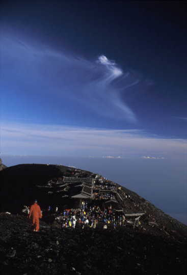 富士山頂にて