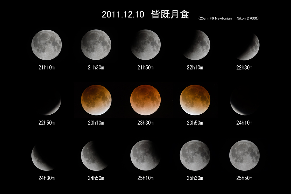 2011年12月10日 皆既月食