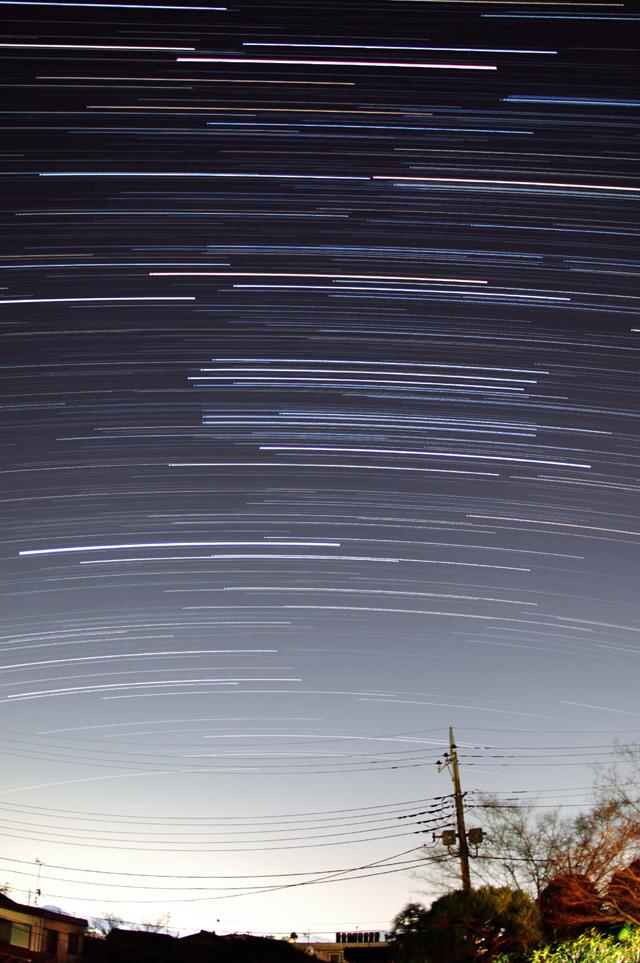 オリオン座の日周運動(南の空)